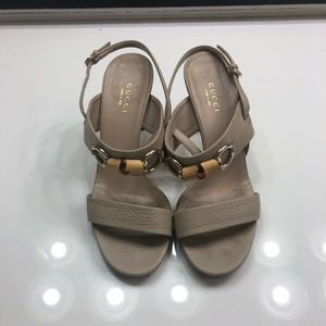 Gucci miss bamboo heels size 36 US 6